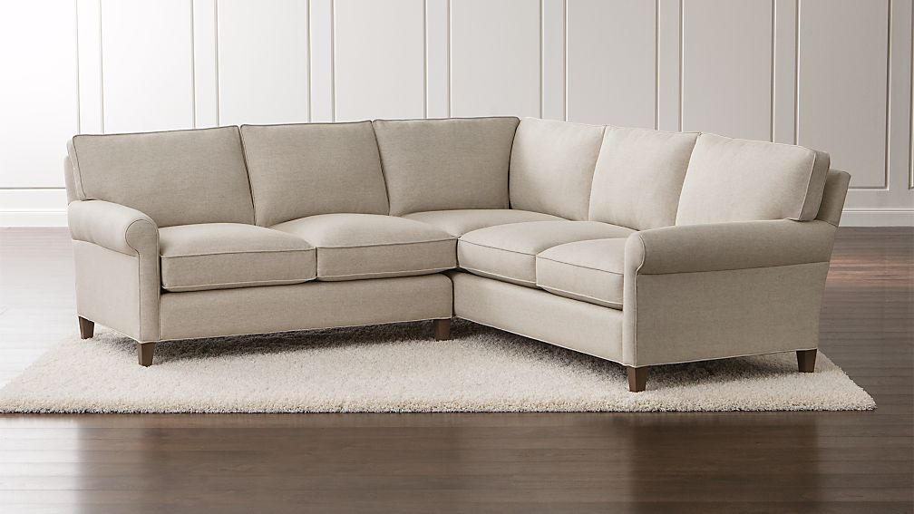 Montclair 2 Piece Right Arm Corner Roll Sectional Sofa Reviews Crate And Barrel