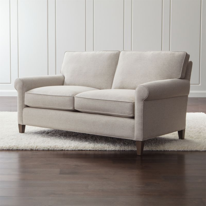 Montclair Rolled Arm Loveseat Reviews Crate And Barrel