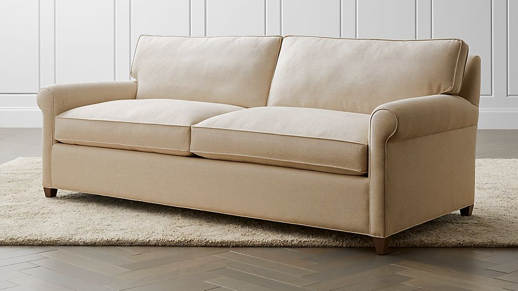 Montclair 2-Seat Queen Roll Arm Sleeper Sofa + Reviews | Crate and Barrel