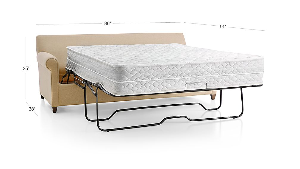 Tap To Zoom Image With Dimension For Montclair 3 Seat Queen Roll Arm Sleeper Sofa Air Mattress