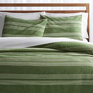 bf5a3a28df2 Monterey Green Striped Duvet Covers and Pillow Shams