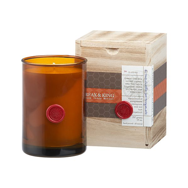 Fairfax & King Monticello Pomegranate Candle