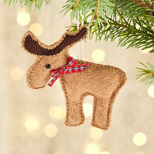 Felt Moose with Red Bow