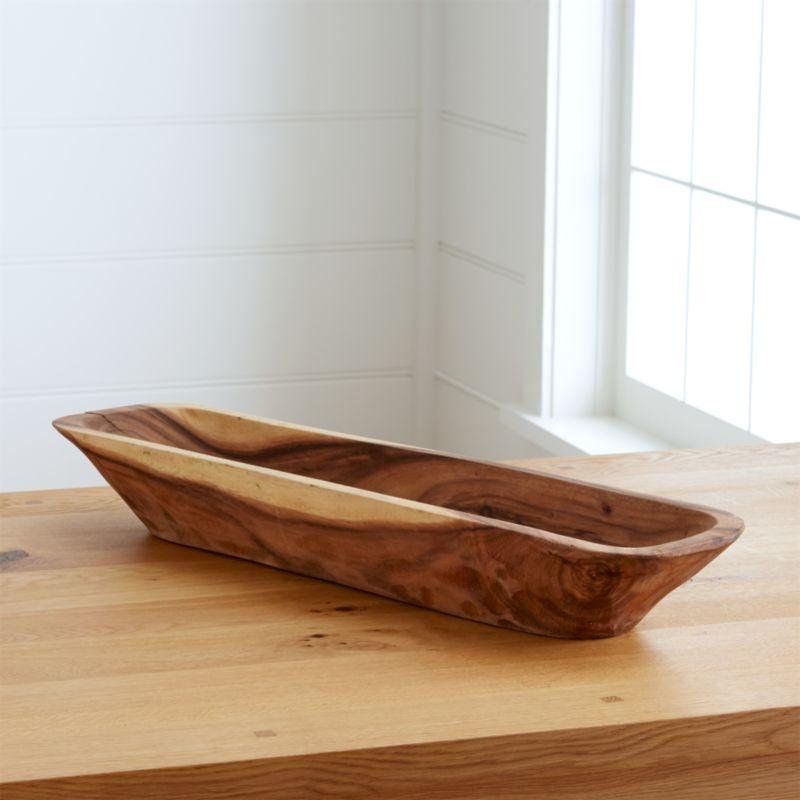 Morela acacia wood centerpiece bowl in bowls