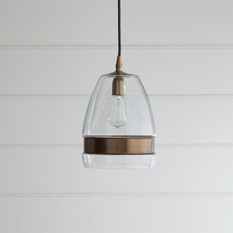Morela Glass Pendant Light Crate And Barrel
