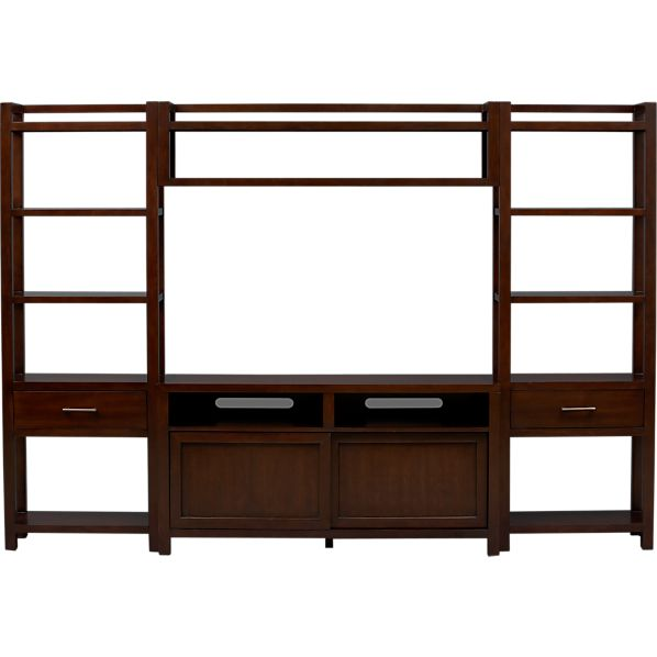 """Tyler 60"""" Media Console with Two Media Towers and Bridge"""