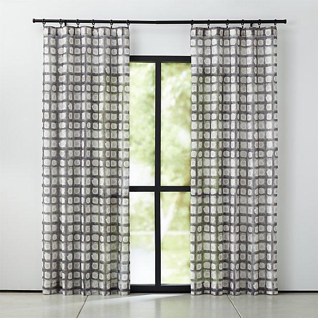 Mori Black and White Curtain Panel - Image 1 of 6