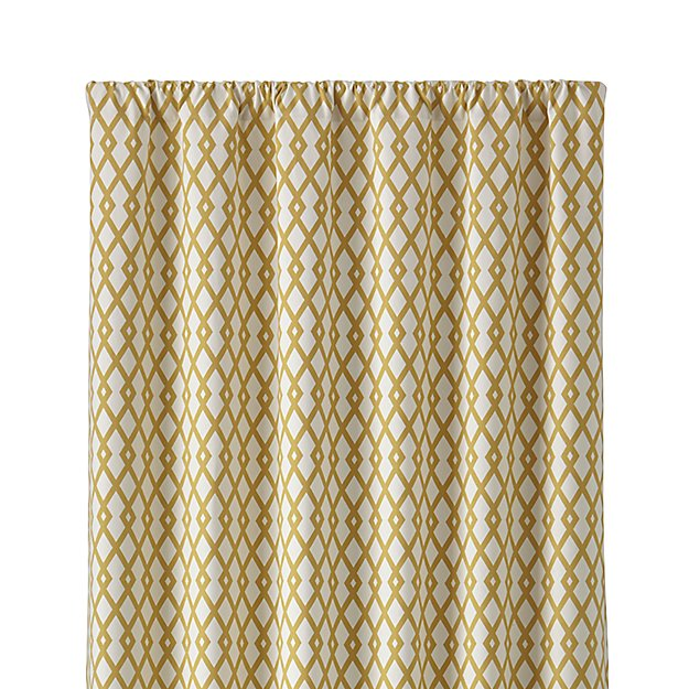 "Moritz 50""x96"" White and Gold Curtain Panel"