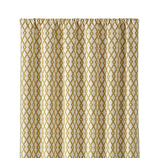 """Moritz 50""""x96"""" White and Gold Curtain Panel"""