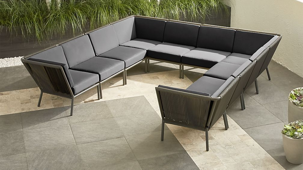 Morocco Graphite 10-Piece Sectional with Sunbrella ® Cushions - Image 1 of 3