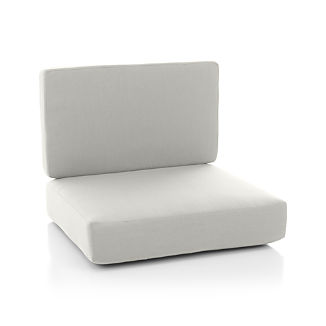 Morocco White Sunbrella ® Sectional Armless/Lounge Chair Cushion