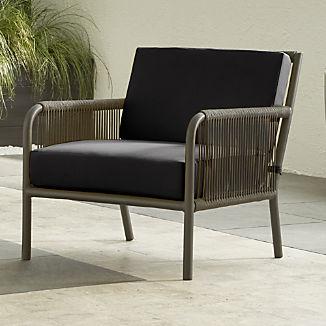 Morocco Graphite Lounge Chair with Charcoal Sunbrella ® Cushion