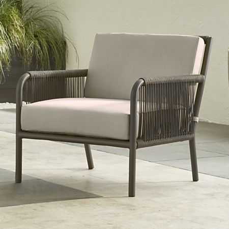 Remarkable Morocco Graphite Lounge Chair With Silver Sunbrella Cushion Bralicious Painted Fabric Chair Ideas Braliciousco