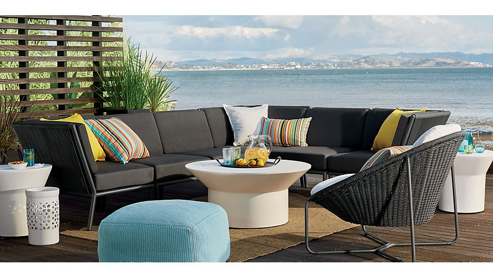 Morocco Sectional Corner with Sunbrella ® Cushion
