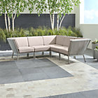 Morocco Light Grey 5-Piece Sectional with Sunbrella ® Cushions