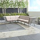 Morocco Light Grey 6-Piece Sectional with Sunbrella ® Cushions