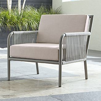 Morocco Light Grey Lounge Chair With Sunbrella ® Cushion