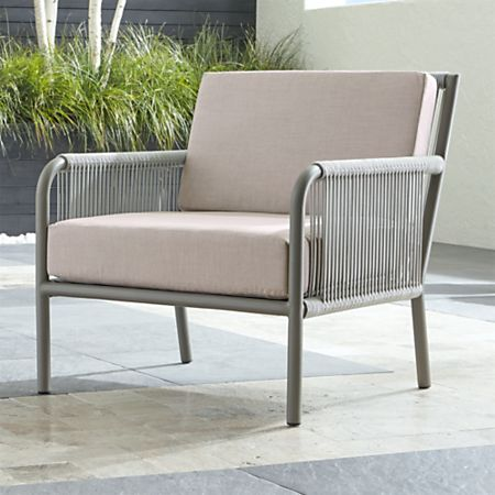 Wondrous Morocco Light Grey Lounge Chair With Silver Sunbrella Cushions Bralicious Painted Fabric Chair Ideas Braliciousco