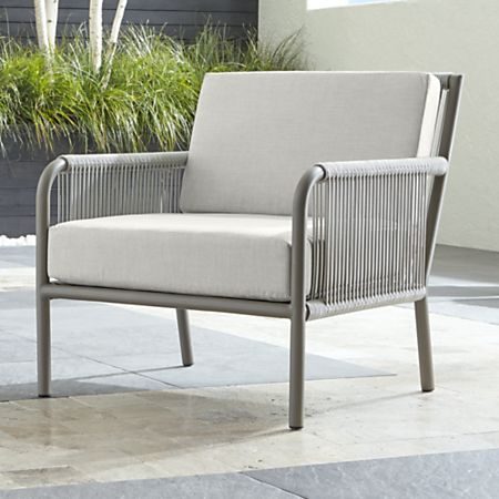 Morocco Light Grey Lounge Chair With