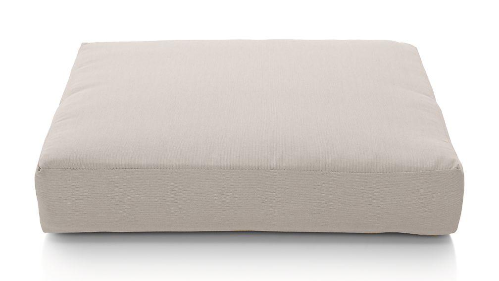 Morocco Silver Sunbrella ® Ottoman Cushion - Image 1 of 2