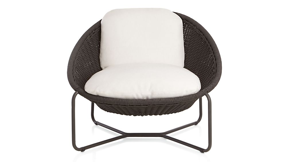 Launge Chair morocco charcoal oval lounge chair with cushion | crate and barrel