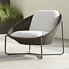 Morocco Graphite Oval Lounge Chair with Cushion