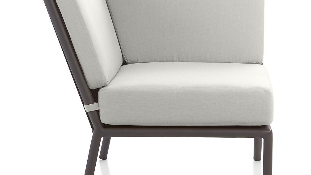 Morocco Graphite Sectional Corner with White Sunbrella ® Cushion - Image 1 of 1