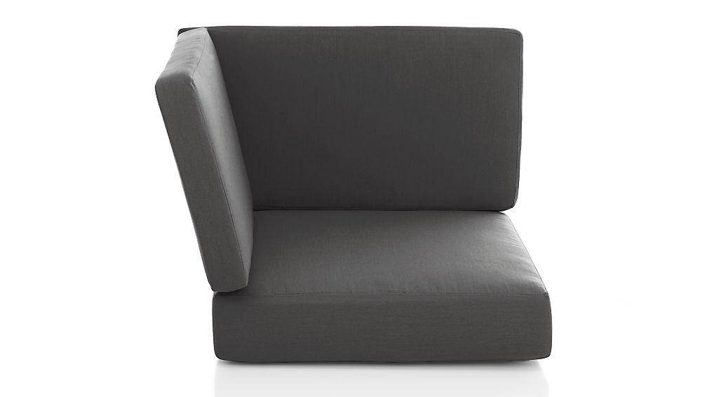 Morocco Charcoal Sunbrella ® Corner Cushion - Image 1 of 3