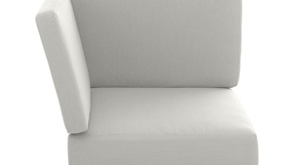 Morocco White Sunbrella ® Sectional Corner Cushion - Image 1 of 1