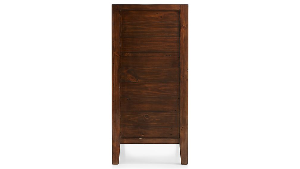 Morris Chocolate Brown 5-Drawer Chest