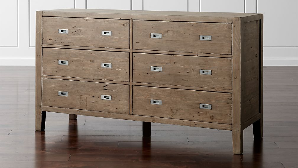 Morris Ash Grey 6-Drawer Dresser