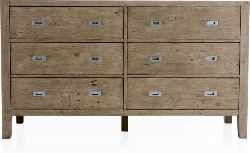 Morris Ash Grey 6-Drawer Dresser