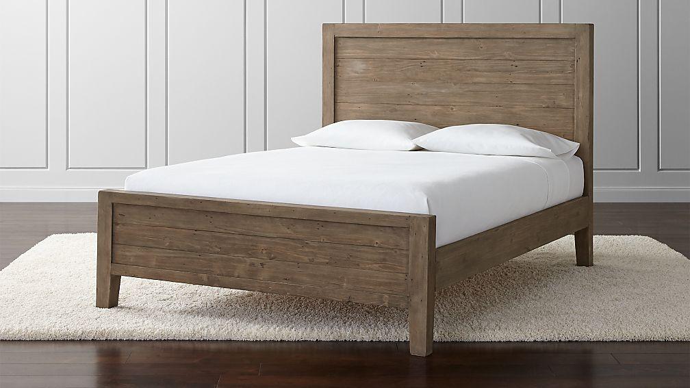 grey queen bed Morris Ash Grey Queen Bed + Reviews | Crate and Barrel grey queen bed