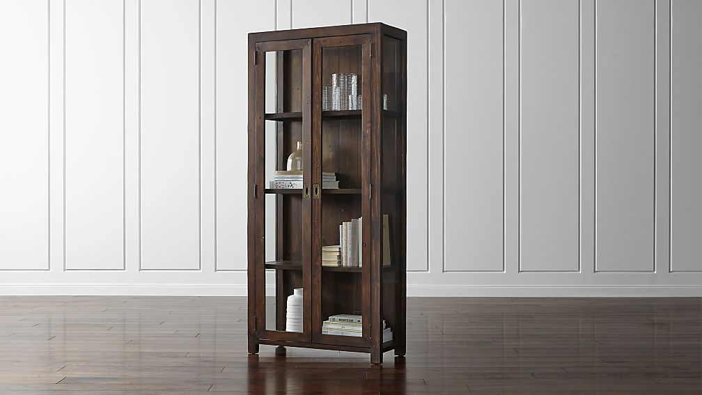 Morris chocolate brown bookcase reviews crate and barrel