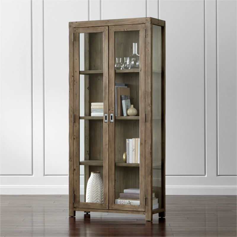 Metal and glass bookcase Industrial Modern Morris Ash Grey Bookcase Crate And Barrel Bookcases Wood Metal And Glass Crate And Barrel
