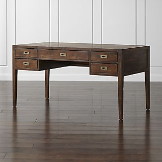 "Morris 60"" Chocolate Brown Desk"