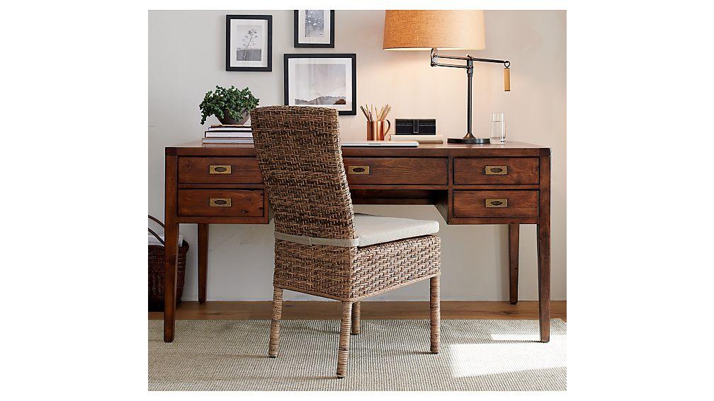 "Morris 60"" Chocolate Brown Desk"