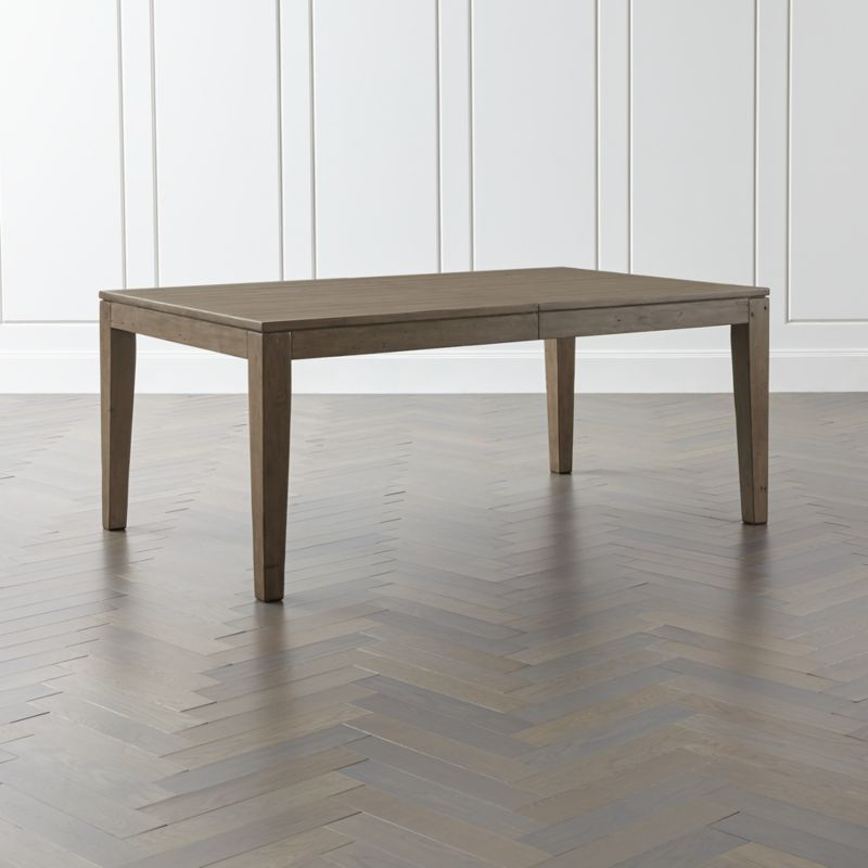 Morris Ash Grey Reclaimed Wood Extension Dining Table Reviews Crate And Barrel