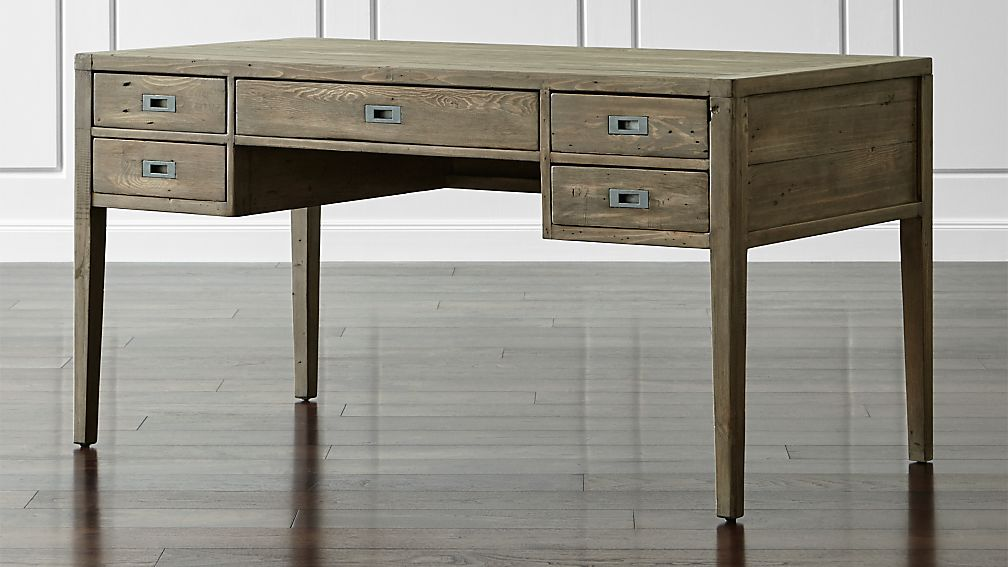 Morris 60 Quot Ash Grey Desk Reviews Crate And Barrel
