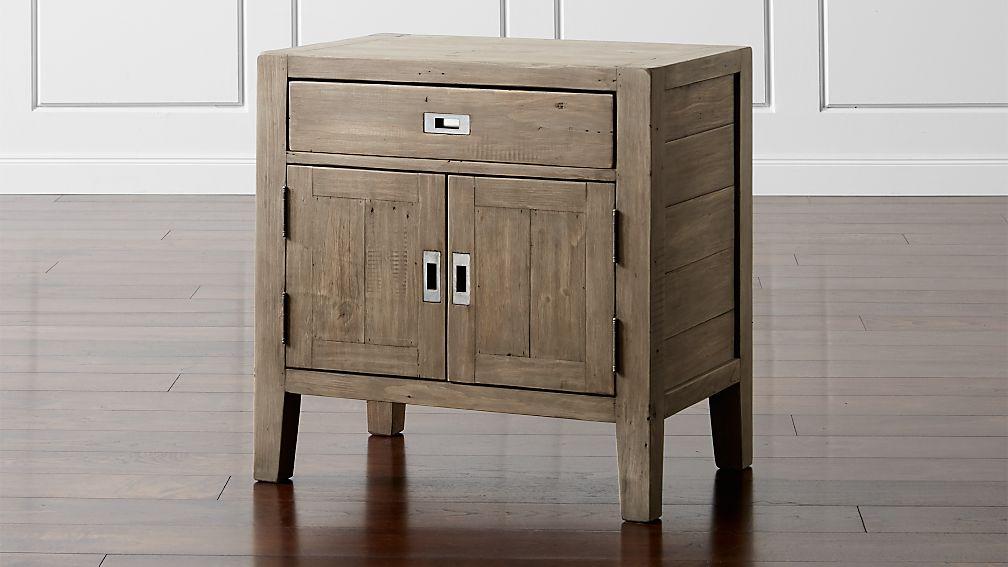 Morris Ash Grey Nightstand Reviews Crate And Barrel
