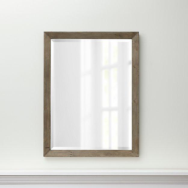 Morris Ash Grey Wall Mirror + Reviews   Crate and Barrel