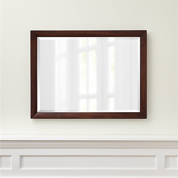 Morris pine wood mirror reviews crate and barrel