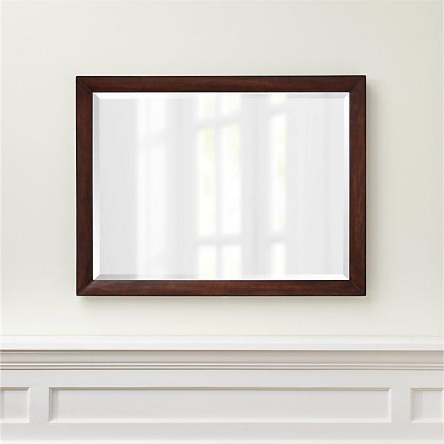 Morris Chocolate Brown Rectangular Wall Mirror - Image 1 of 3