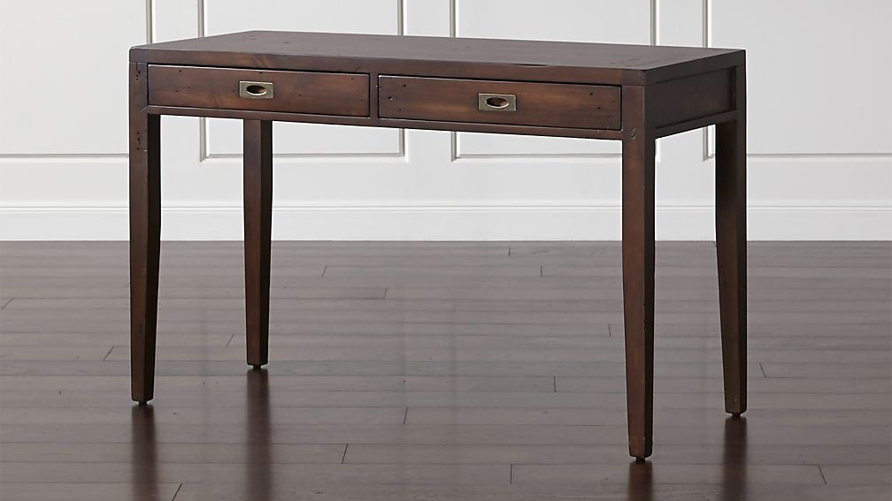 Morris 48 Quot Chocolate Brown Writing Desk Reviews Crate