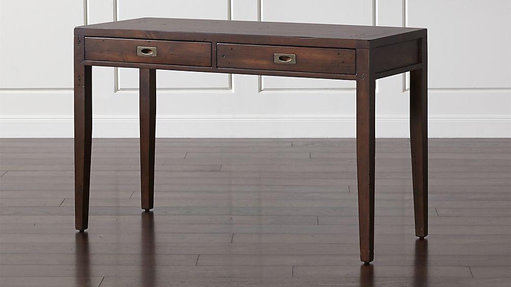 Morris 48 Quot Chocolate Brown Writing Desk Reviews Crate