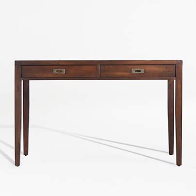 "View testMorris 48"" Chocolate Brown Writing Desk"