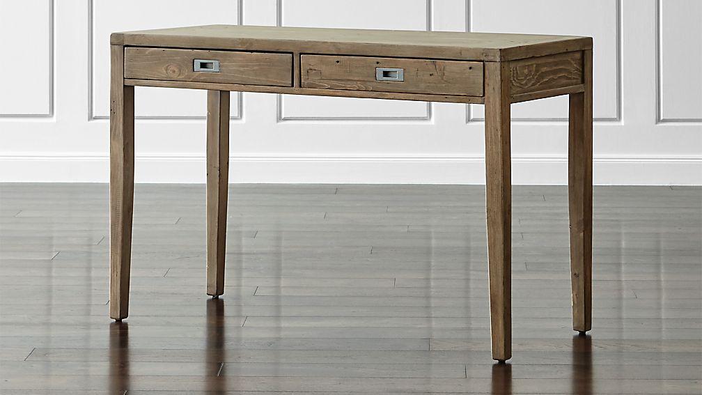 "Morris 48"" Ash Grey Writing Desk - Image 1 of 10"