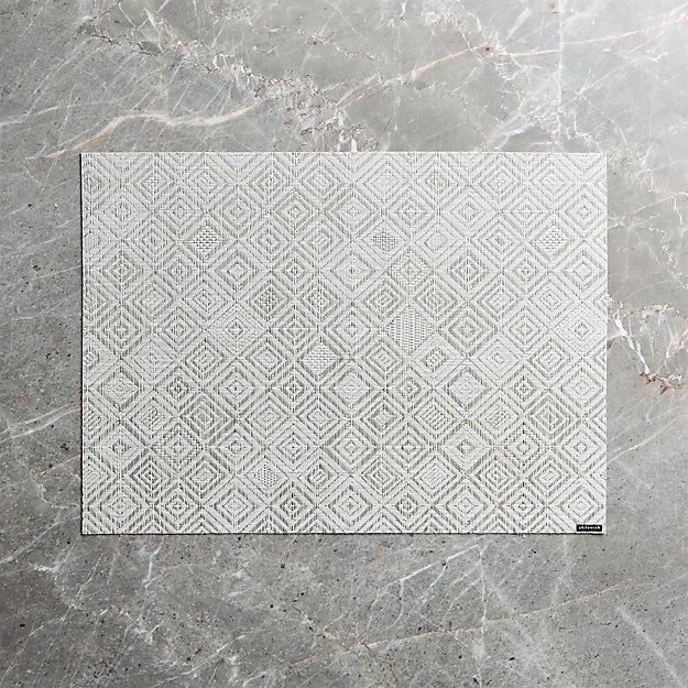 Chilewich Mosaic Grey Placemat Reviews Crate And Barrel