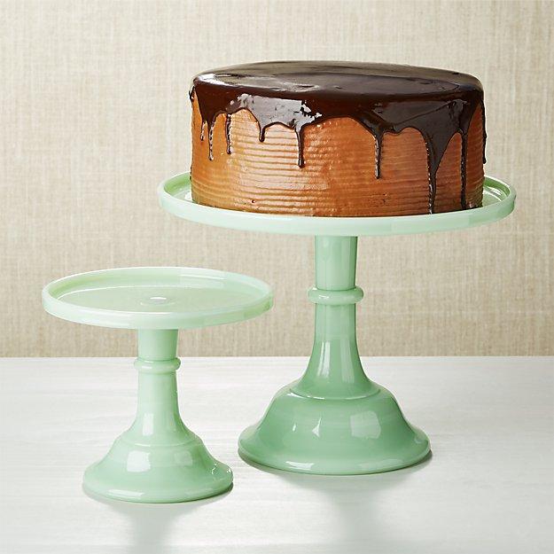 Mosser Jadeite Cake Stand