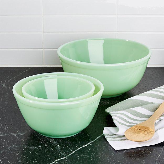 Mosser Jadeite Mixing Bowls, Set of 3 - Image 1 of 4